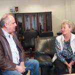 Isabelle Bretagne a présenté le projet au maire d'Edessa