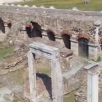 En Grèce : Les vestiges de la ville de Thessalonique